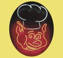 Neon Sign - BBQ Pig Chef Kids Tee