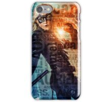 Black Canary Word Picture iPhone Case/Skin