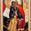 The Conception of John the Baptist. St Zechariah and St Elizabeth. by Natalia Lvova