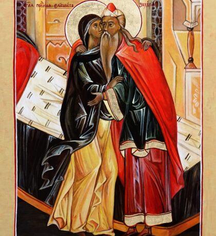 The Conception of John the Baptist. St Zechariah and St Elizabeth. Sticker