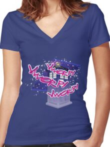 VWORP! Women's Fitted V-Neck T-Shirt