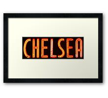 Neon Sign - Chelsea Framed Print