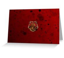 Red Ink Blots Greeting Card