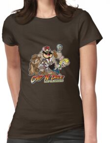 Chip N Dale Last Crusaders Womens Fitted T-Shirt