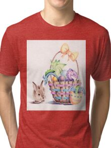 A basket of Easter Dragons Tri-blend T-Shirt