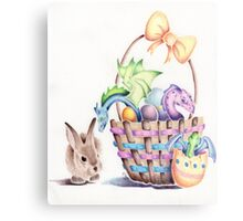 A basket of Easter Dragons Canvas Print