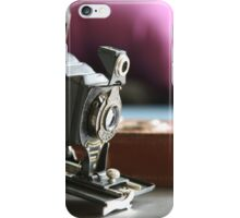 Kodak moments ....vintage Folding Autographic Brownie  iPhone Case/Skin