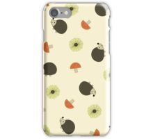 Hedgehog Fall Sunflower Pattern iPhone Case/Skin