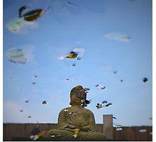 Gautama Buddha water reflection  Photographic Print