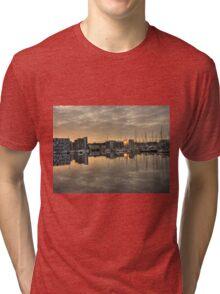 Sunrise over Neptune Quay Tri-blend T-Shirt