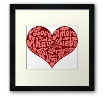 Love languages Heart for Valentine's day  Framed Print