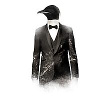 Blizzard Penguin Photographic Print