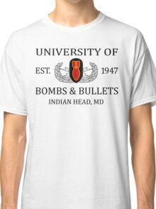 University of Bombs & Bullets Indian Head Classic T-Shirt