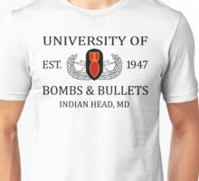 University of Bombs & Bullets Indian Head Unisex T-Shirt
