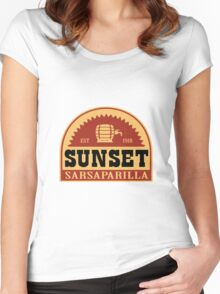 Sunset Sarsaparilla Women's Fitted Scoop T-Shirt