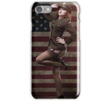 Sexy officer of the American forces in World War II iPhone Case/Skin