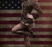 Sexy officer of the American forces in World War II by Fernando Cortés