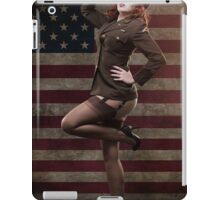 Sexy officer of the American forces in World War II iPad Case/Skin