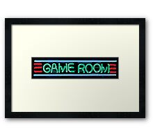 Neon Sign - Game Room Framed Print
