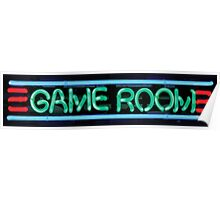 Neon Sign - Game Room Poster