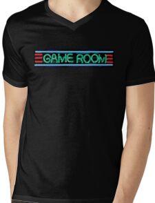 Neon Sign - Game Room Mens V-Neck T-Shirt