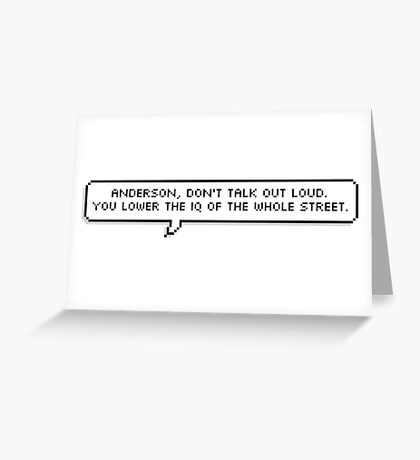 Sherlock Quote Pixel Text Greeting Card