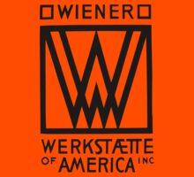 Wiener Werkstaette of America art black and white Kids Tee
