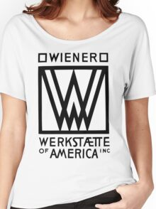 Wiener Werkstaette of America art black and white Women's Relaxed Fit T-Shirt