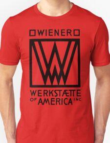 Wiener Werkstaette of America art black and white T-Shirt