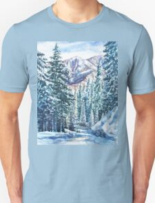 Winter Forest And Mountains T-Shirt