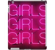 Neon Sign - Girls Girls Girls iPad Case/Skin