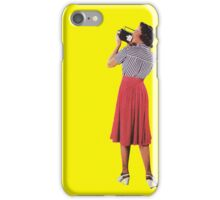 camera woman, Vintage Collage iPhone Case/Skin