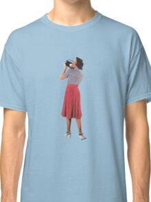 camera woman, Vintage Collage Classic T-Shirt