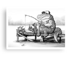 Fishing Buddies Canvas Print