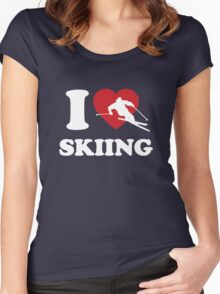 I love Skiing Women's Fitted Scoop T-Shirt