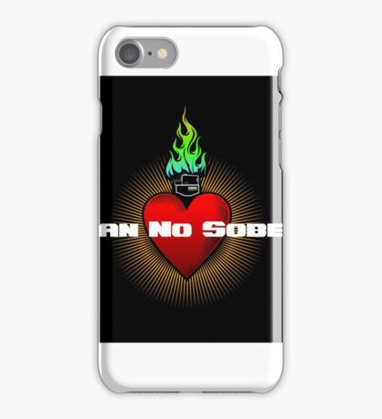 MNS Flame Heart Black iPhone Case/Skin