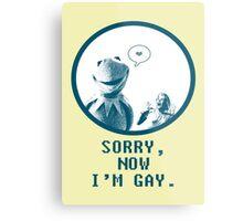 Kermit in Love Metal Print