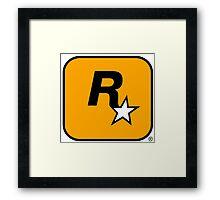 Rockstar logo HQ Framed Print