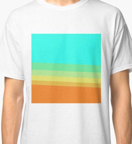 Retro 70's Color Block Gradient Classic T-Shirt