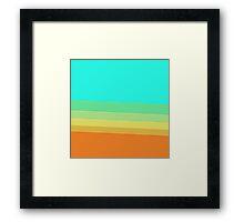 Retro 70's Color Block Gradient Framed Print