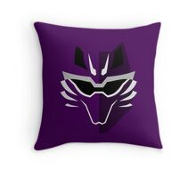Jungle Fury Wolf Ranger/GekiViolet Throw Pillow