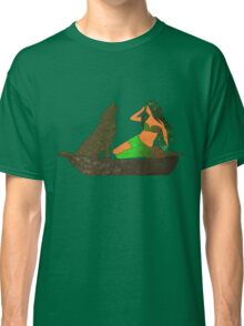Earth _ The Woman and the Wolf Classic T-Shirt