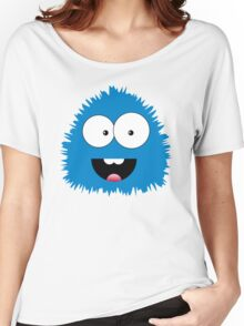 Funny cartoon blue monster Women's Relaxed Fit T-Shirt