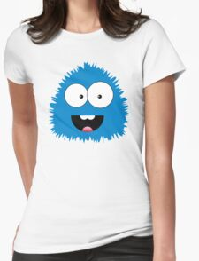 Funny cartoon blue monster Womens Fitted T-Shirt