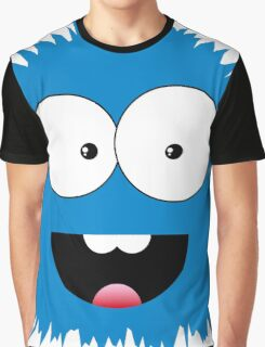 Funny cartoon blue monster Graphic T-Shirt
