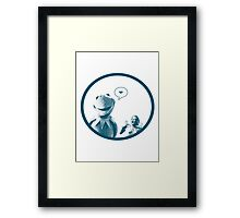 Kermit in Love Framed Print