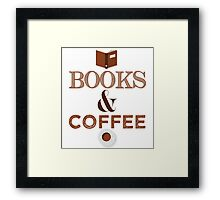 Coffee & Books  Framed Print