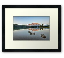 Two Jack Lake Framed Print
