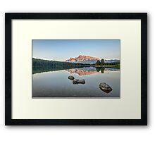 Two Jack Lake Framed Print
