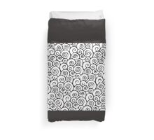 Modern Black and White Abstract Swirly Pattern Duvet Cover